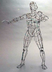 Wire frame man