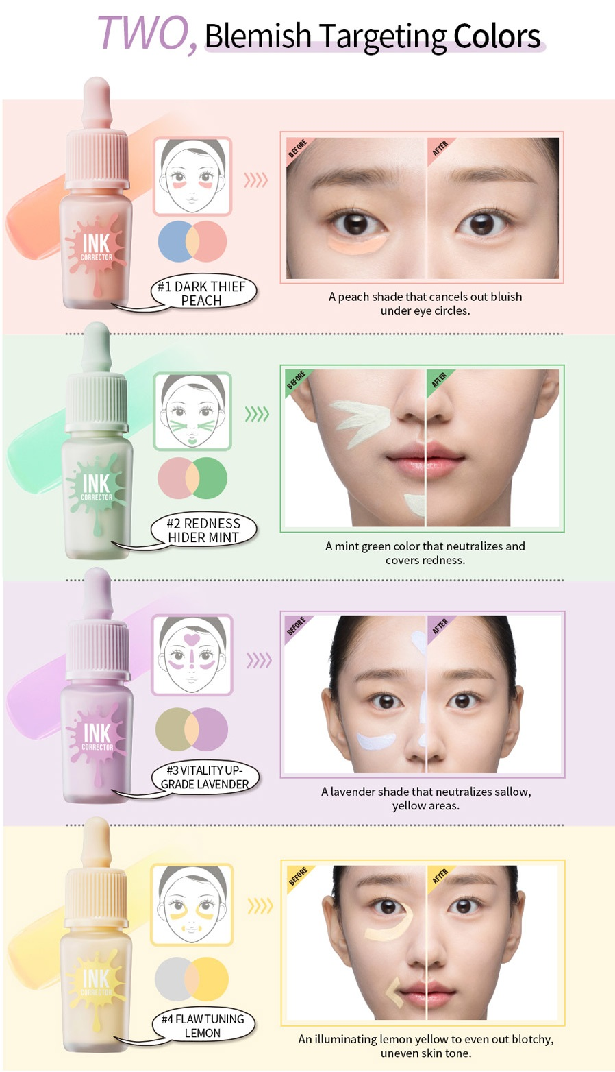 [PERIPERA] Ink Corrector Color Correcting Makeup Base Primer 8g KOREA NEW | eBay