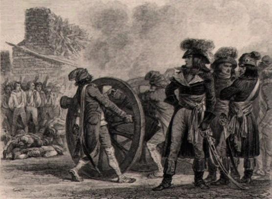Fouché à Lyon - Gravure d'après un dessin de Raffet - Wikipedia Commons - Fouché est représenté commandant en personne les exécutions, ce qui est inexact.