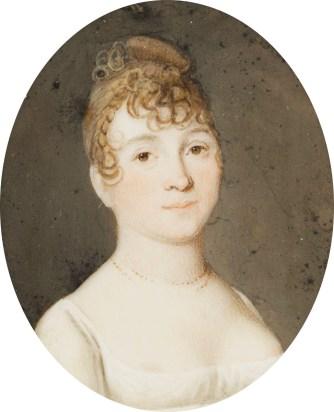 Portrait de jeune femme, époque 1er Empire - Photo Expertissim.com