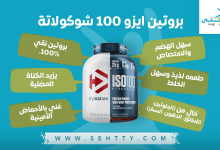 صورة بروتين ايزو 100 شوكولاتة لكلّ من يرغب ببنية عضلية قويّة