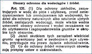 Ryc. 2.Ustawa wodna z 19 września 1922r. [Dz.U. nr122 poz.936]