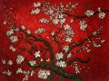 Van Gogh - Branches of an almond tree in blossom red