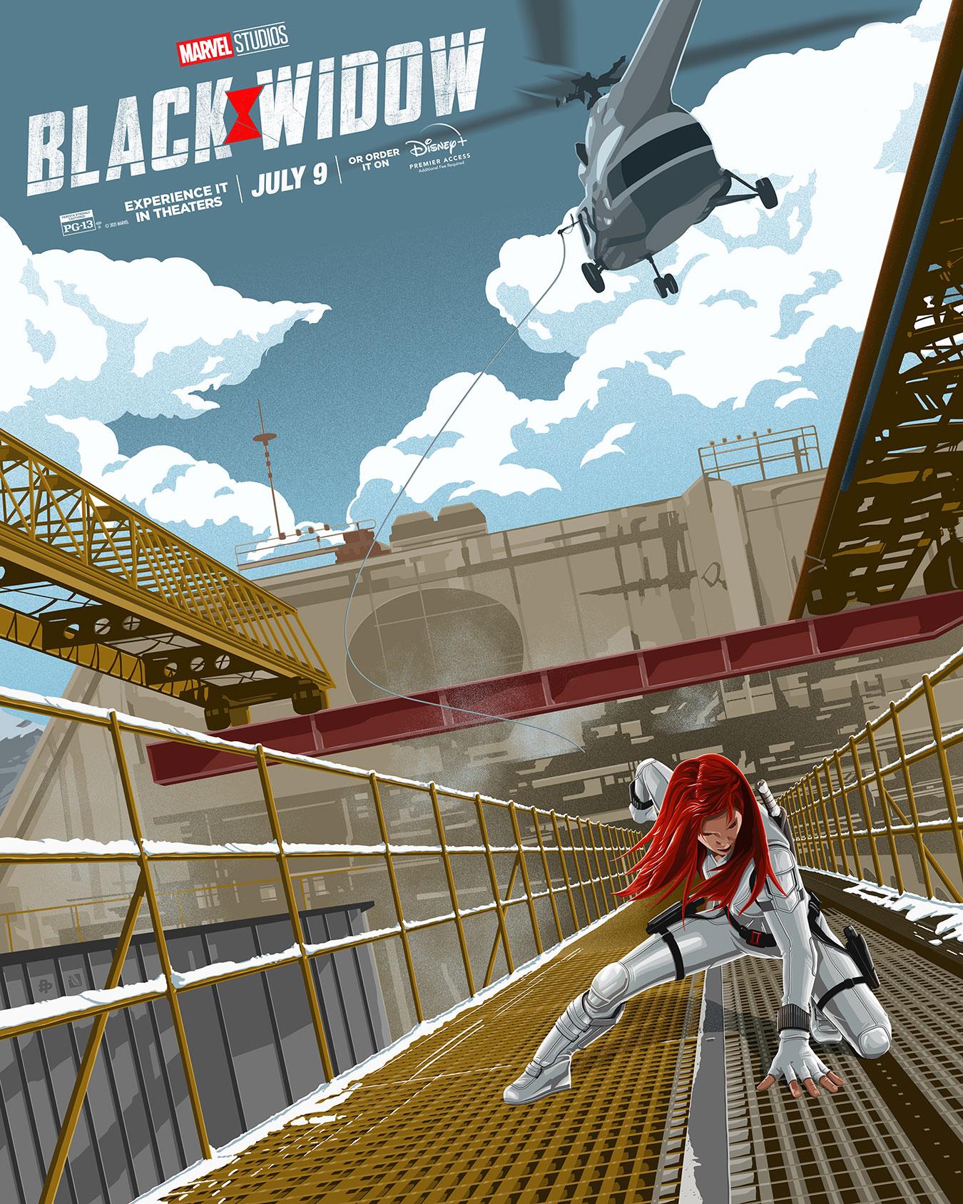 スカーレット・ヨハンソン『ブラック・ウィドウ』。ナターシャの「決めポーズ」