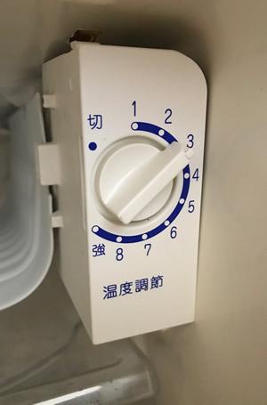 冷蔵庫の温度設定