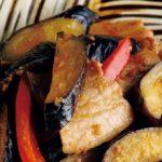 なすと豚肉の味噌炒め中華