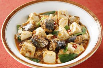 イワシのマーボー豆腐