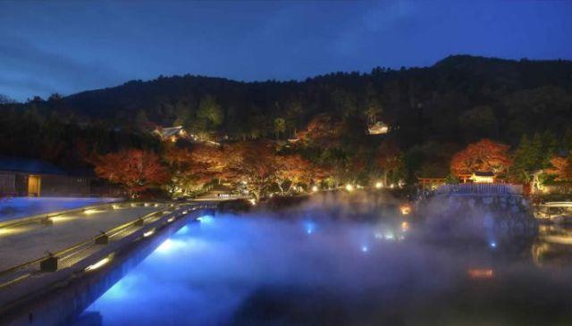 勝尾寺の紅葉ライトアップ