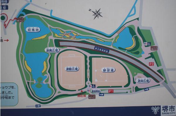 白鷺公園内地図