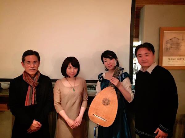 朗読音楽会「ロバのおうじ」関根淳子さんと平野雅彦先生、日本平施術院の李さんと