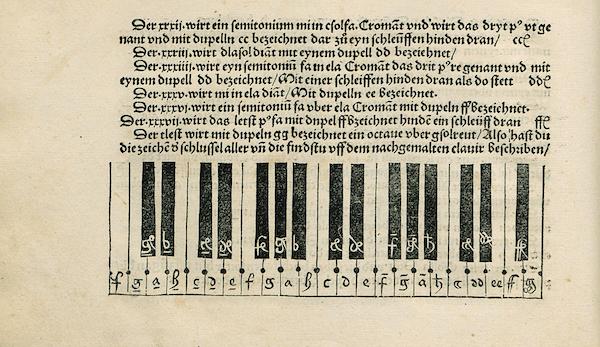 『Musica getutscht und außgezogen』オルガンタブ譜1