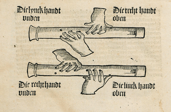 『Musica getutscht und außgezogen』リコーダータブ3