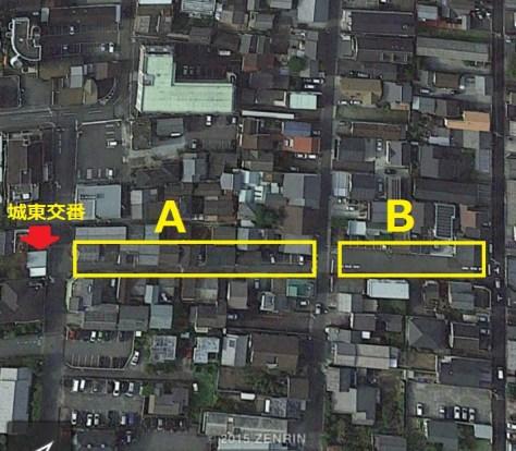 樽屋町建物疎開範囲地図