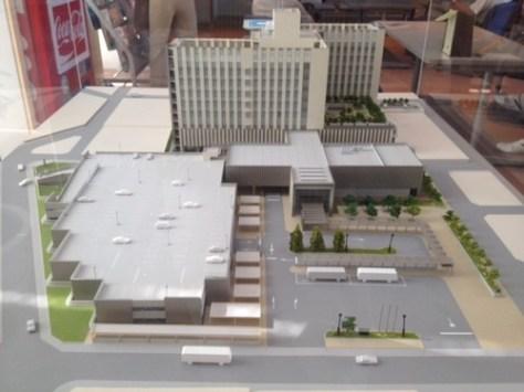 市立宇和島病院の建物の模型