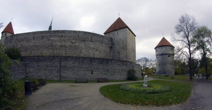 Tallinn town wall from outside