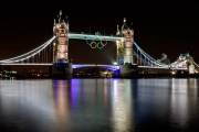 The Tower Bridge at night  - close up