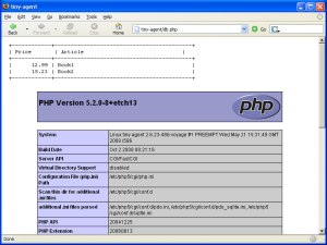 Alix Board running lighttpd, PHP5 and SQLite