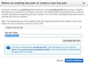 Creating a key pair for EC2
