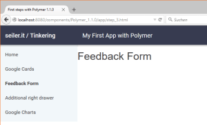Our Polymer App themes with the technology theme