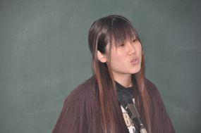Satoko does her speech