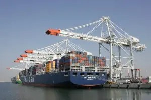 Le Médéa, porte-conteneurs géant de 9415 EVP, en escale au Havre © Port du Havre