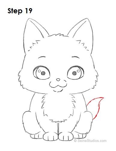 How to Draw a Cartoon Kitten