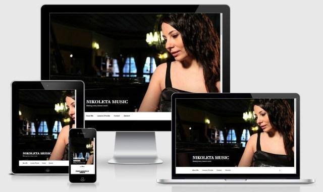 responsive webpage nikoletamusic.com