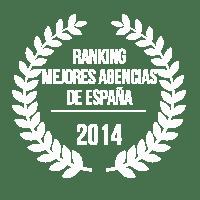 PREMIO - RANKING MEJORES AGENCIAS DE ESPAÑA - 2014
