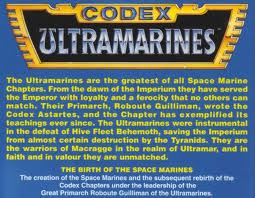 Check out that blurb on the back of the Codex. If that doesn't say Space Marines for life, well I don't know what does.Photo, property of Games Workshop.