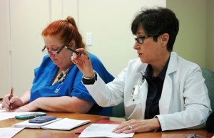Committee co-chair Vicki Gonzalez, RN, leads a multi-disciplinary team of employees and management.