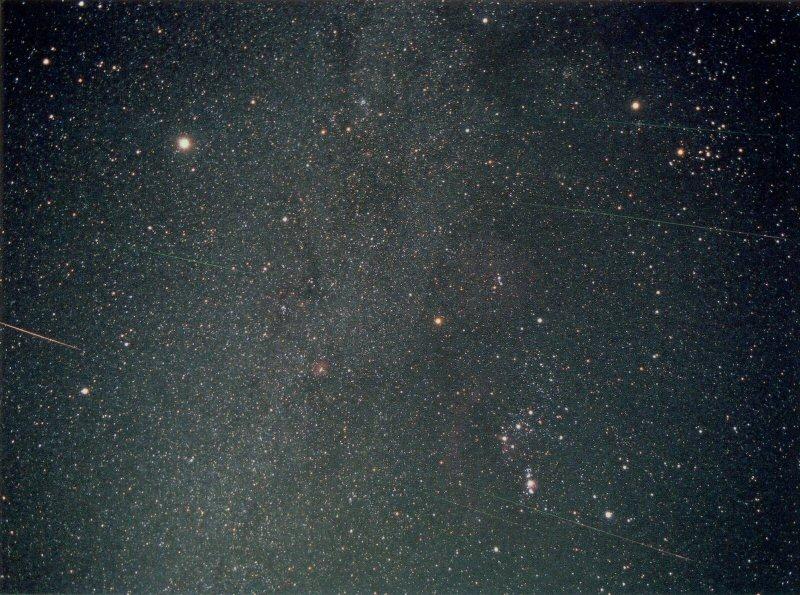 2001年11月19日のしし座流星雨の流星畫像