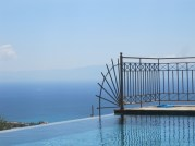 Our infinity pool in Kefalonia