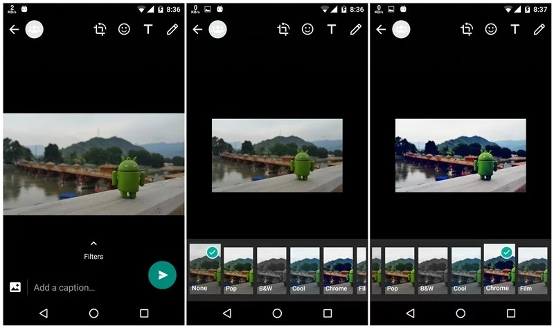 WhatsApp Beta traz recurso de filtros para fotos 1