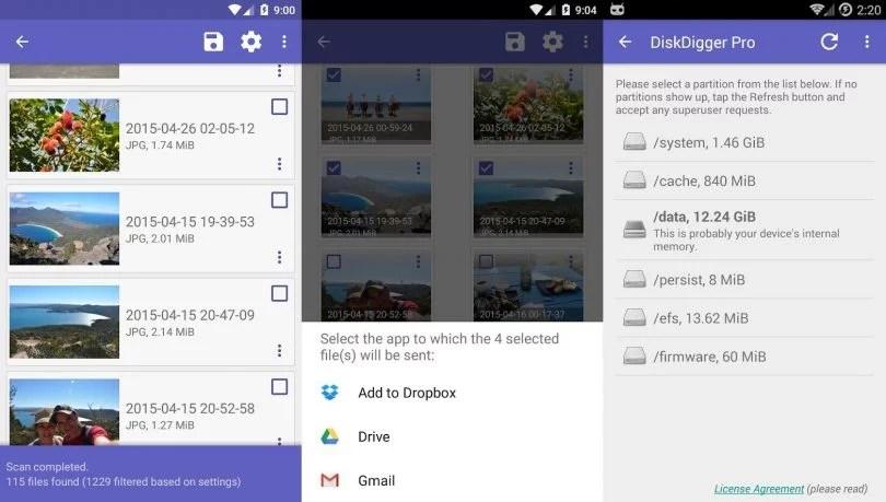 Como recuperar fotos e arquivos apagados no Android? 1