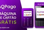 AQPago Máquina de Cartão Grátis