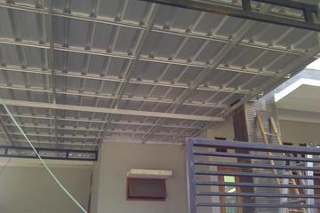 kanopi baja ringan atap kaca surya jaya truss
