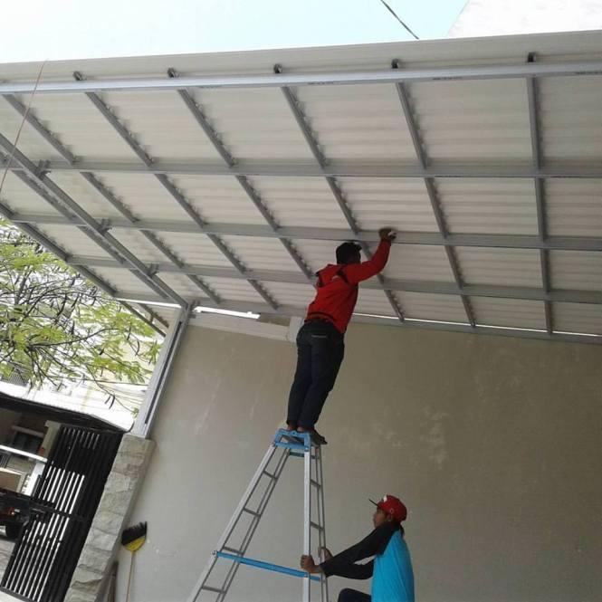 Jasa  Pembuatan   Canopy  Baja Ringan  Rumbia