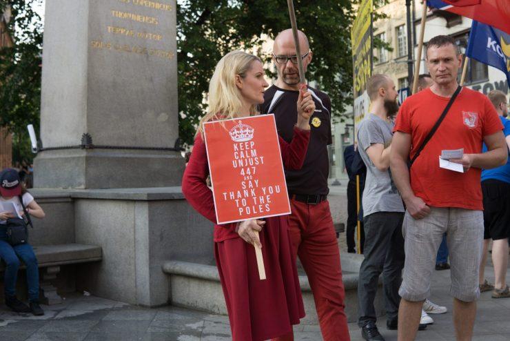 Manifestacja przeciwko ustawie JUST Act 447 w Toruniu/Fot. Maria Trybula/SejmLog