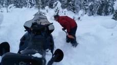 embourbé dans la neige!