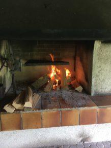 waldhütte Feuer