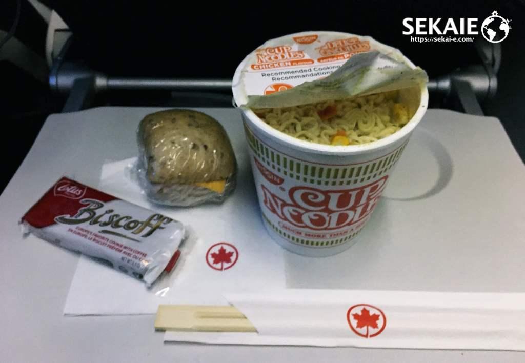 エアカナダ、機内食