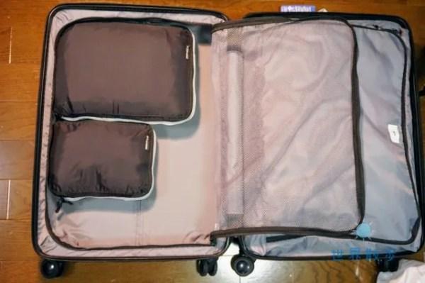 トラベラブ圧縮バッグの使用イメージ