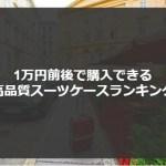 【口コミ】1万円台・以下おすすめのスーツケースランキング10選!