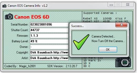 【カメラのショット数、シャッター回数の調べ方】PhotoME(フォトミー)、Canon EOS Digital info 使えますぞ。