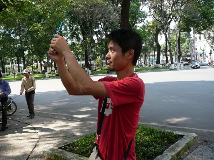 北京でカメラを盗まれて以来、携帯カメラで世界遺産を取り続ける可哀相なオッキー。