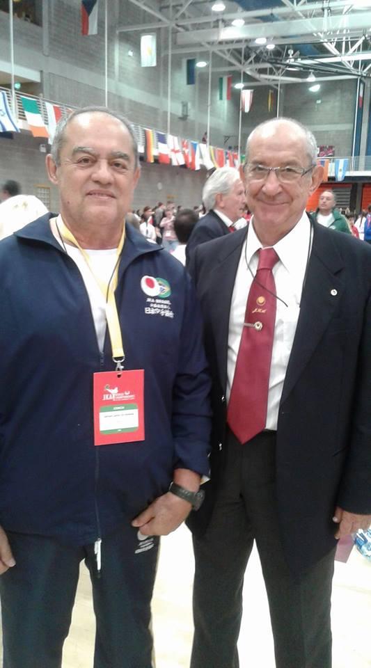 Sensei Gerson Carlos de Almeida e Sensei Jose Gomes Pacheco (Portugal)