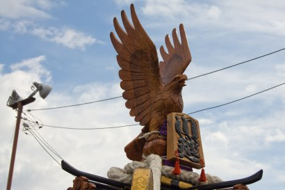 Decoration of floats: eagle