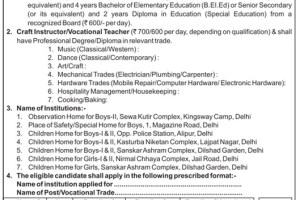 WCD Delhi Recruitment 2015 How To Apply Trained Graduate Teacher Craft Instructor