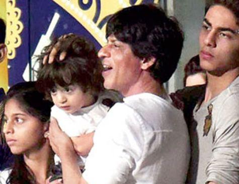 Shahrukh khan With Son Aryan Khan, AbRam Khan