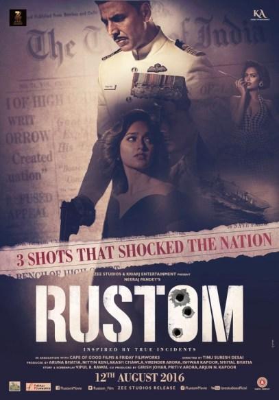 Akshay Kumar Rustom Movie Release Date, Posters
